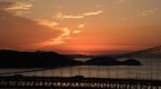 鷲羽山展望台からの夕日