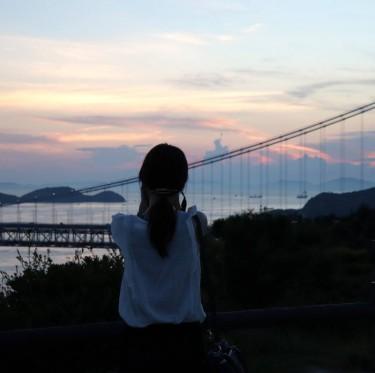 瀬戸大橋の夕景 2-4