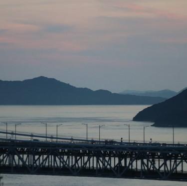 瀬戸大橋の夕景 2-3
