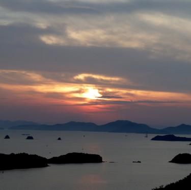 三百山からの夕日 2-1