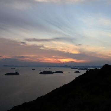 三百山からの夕日 1-2