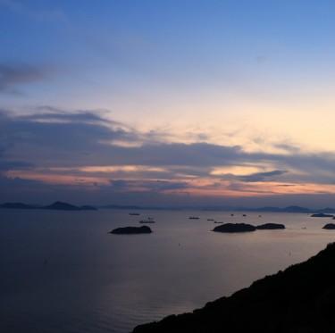 三百山からの夕日 1-3