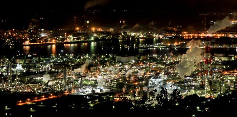 水島臨海工業地帯の夜景 1-1