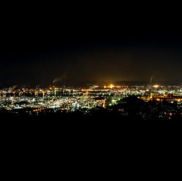 水島臨海工業地帯の夜景 1-2