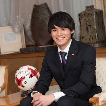 ファジアーノ岡山の選手が倉敷市役所を訪問 2-2