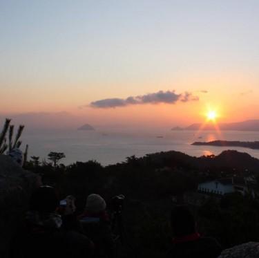 鷲羽山からの初日の出 3-2