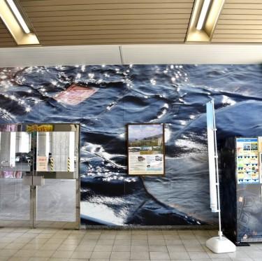 JR児島駅ジーンズ装飾第2弾とデニムガールズコレクション 2-1