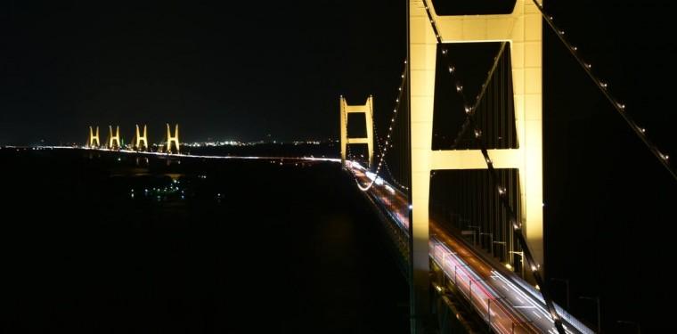 綺麗な夜景はいかが! 瀬戸大橋ライトアップ 1-1