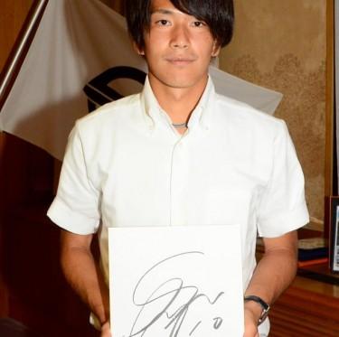 リオ五輪・サッカー日本代表 ファジアーノ岡山・矢島選手が倉敷市訪問 2-2