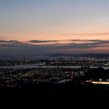 水島臨海工業地帯の夜景 2-3