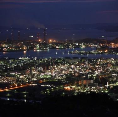 水島臨海工業地帯の夜景 2-2