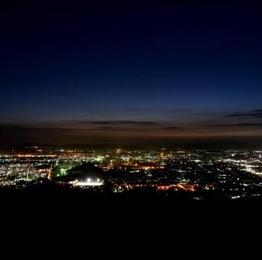 水島臨海工業地帯の夜景 2-1