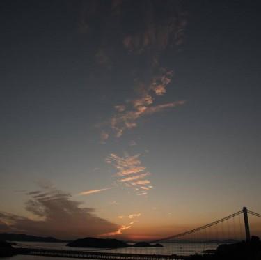 鷲羽山展望台からの夕日 2-2