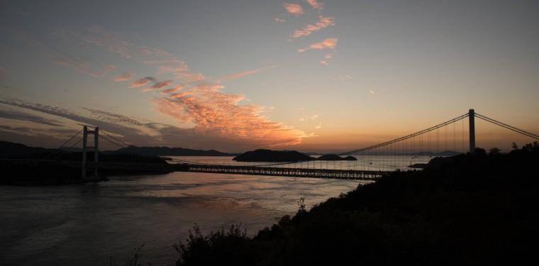 鷲羽山展望台からの夕日 3