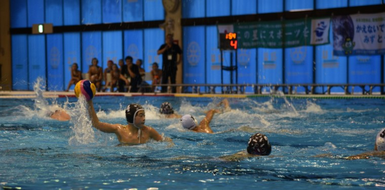 桃太郎カップ(全日本ユース(U15)水球競技選手権大会)開催中