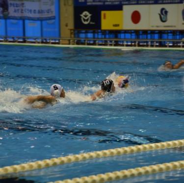 桃太郎カップ(全日本ユース(U15)水球競技選手権大会)開催中 2-4