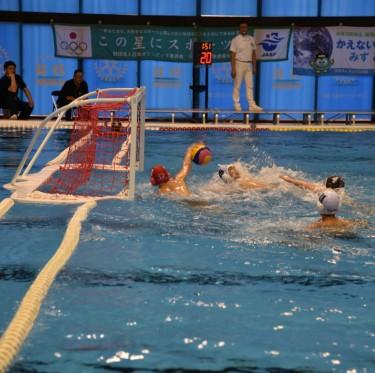 桃太郎カップ(全日本ユース(U15)水球競技選手権大会)開催中 2-3