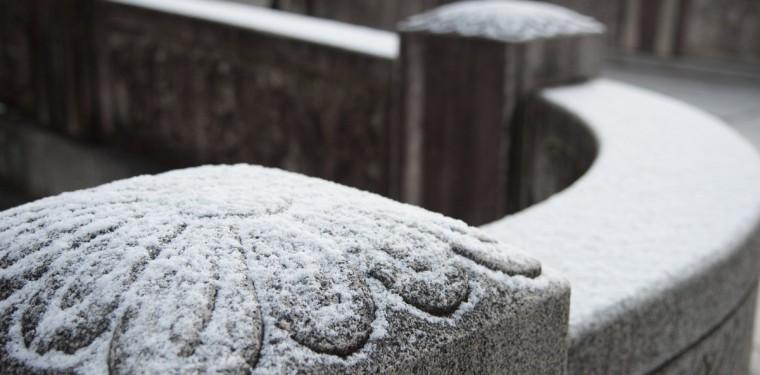雪の美観地区
