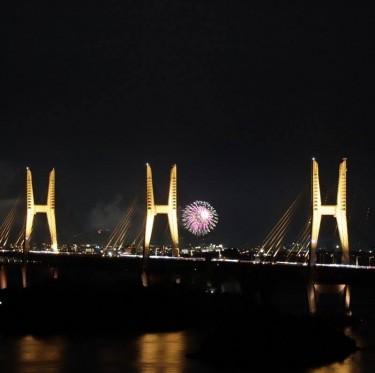 瀬戸大橋の夕景 1-2