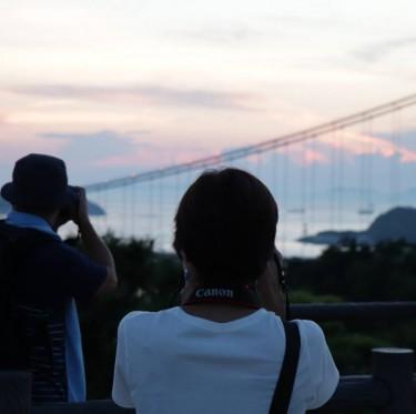 瀬戸大橋の夕景 2-1