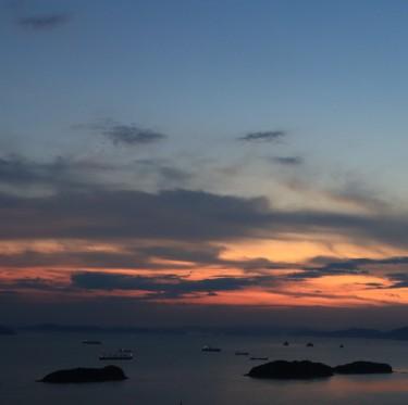 三百山からの夕日 2-4