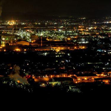水島臨海工業地帯の夜景 1-3