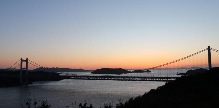 2018年3月 瀬戸大橋と夕焼け