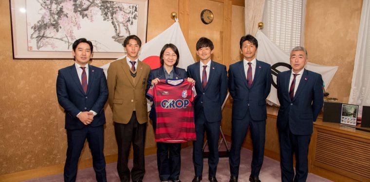 2020ファジアーノ岡山関係者 倉敷市長訪問